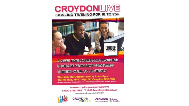 Croydon Live - Jobs & Training Event for 16-25 Year Olds