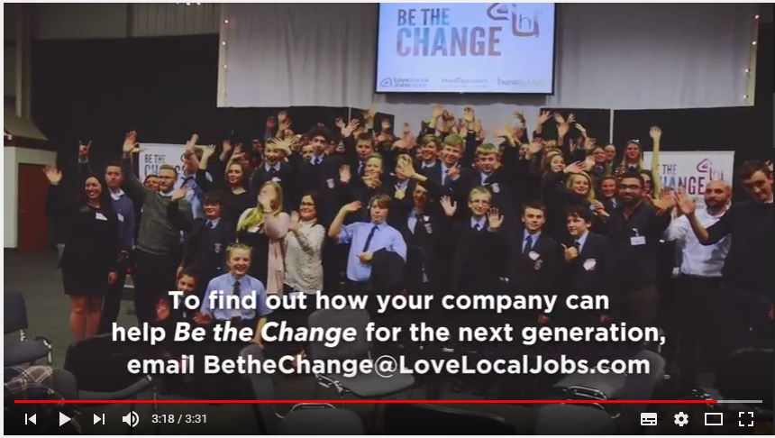 Watch our Be the Change promo video