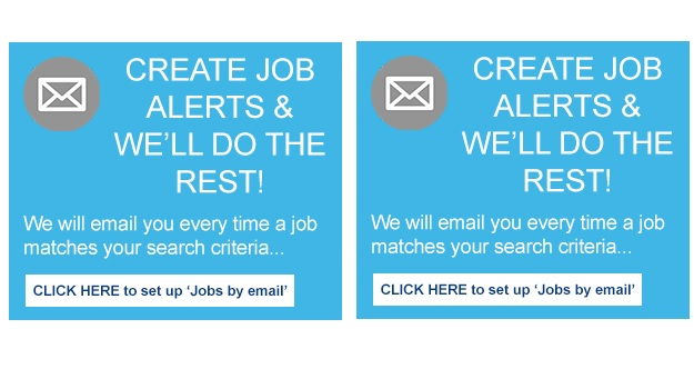 Make your job search easier… receive email alerts on jobs that match your search terms!