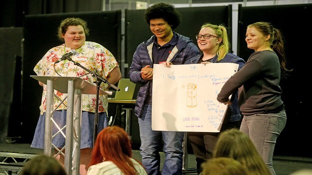 Sussex Coast College Hastings students attend Be the Change conference