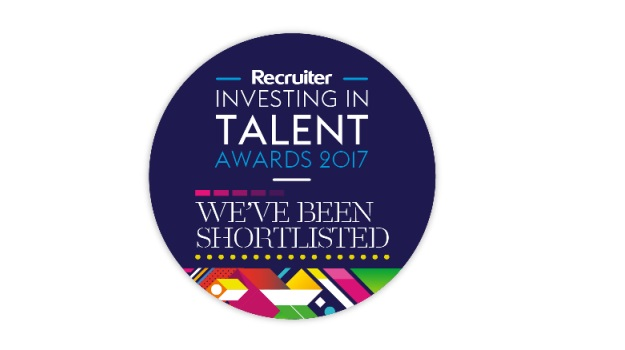 We've made the shortlist for the Investing in Talent Awards 2017